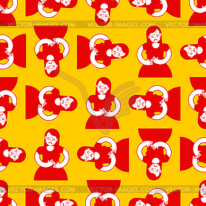 PMS pattern seamless. Menstrual pain girl.