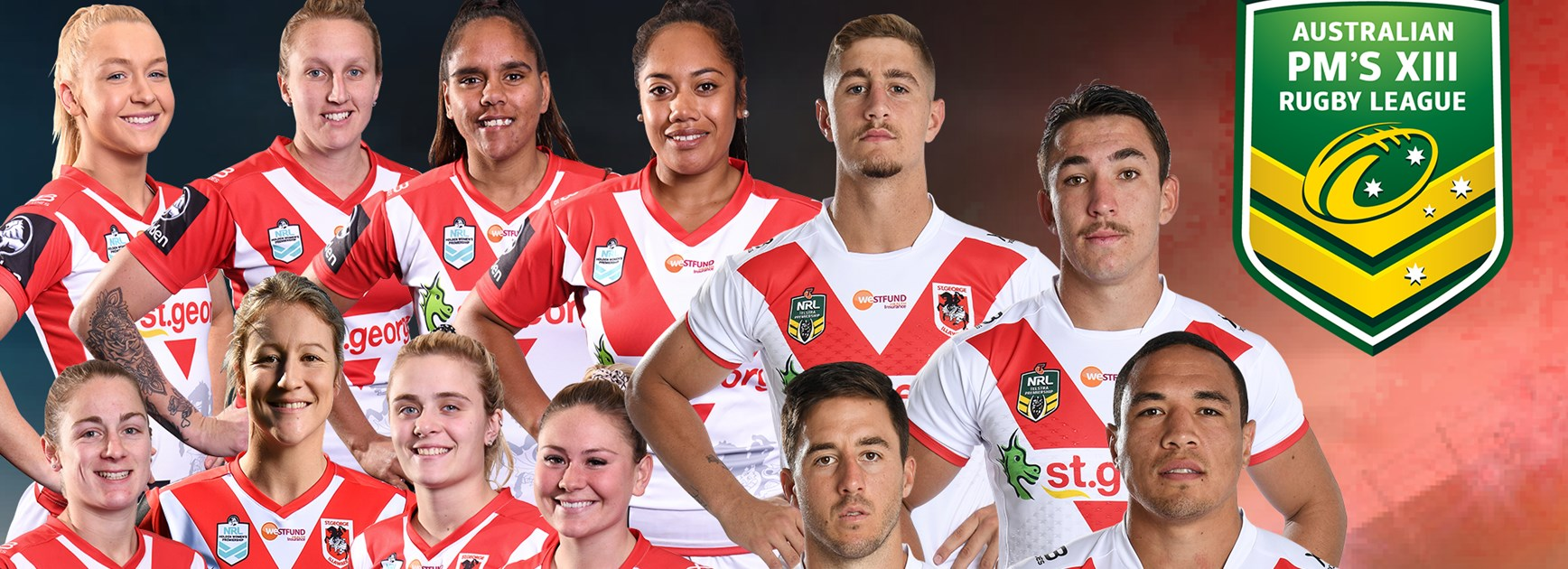 13 Dragons named in Prime Minister\'s XIII squads.