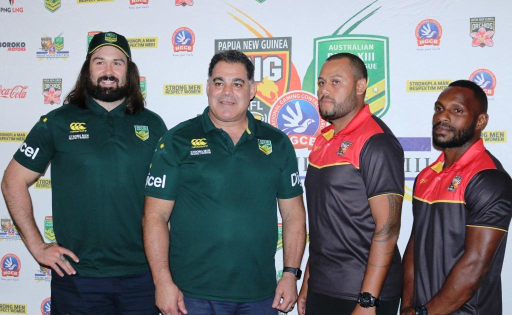 Papua New Guinea and Australia Prime Minister\'s XIII Coaches.