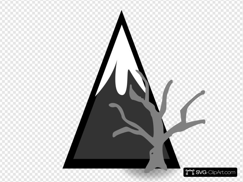 Dead Forest Mountains Clip art, Icon and SVG.