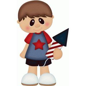 Patriotic boy w fireworks pnc.