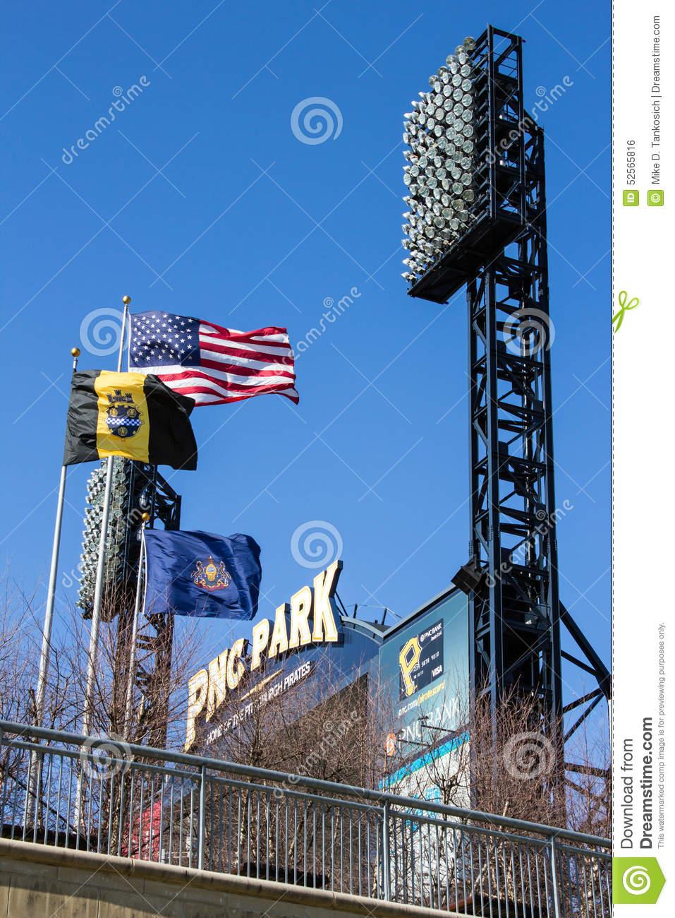 PNC Park Flags Editorial Photo.