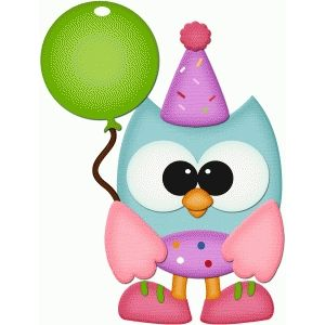 Silhouette Design Store: birthday owl with balloon pnc.