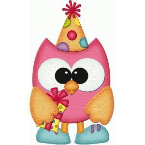 Birthday owl holding gift pnc.