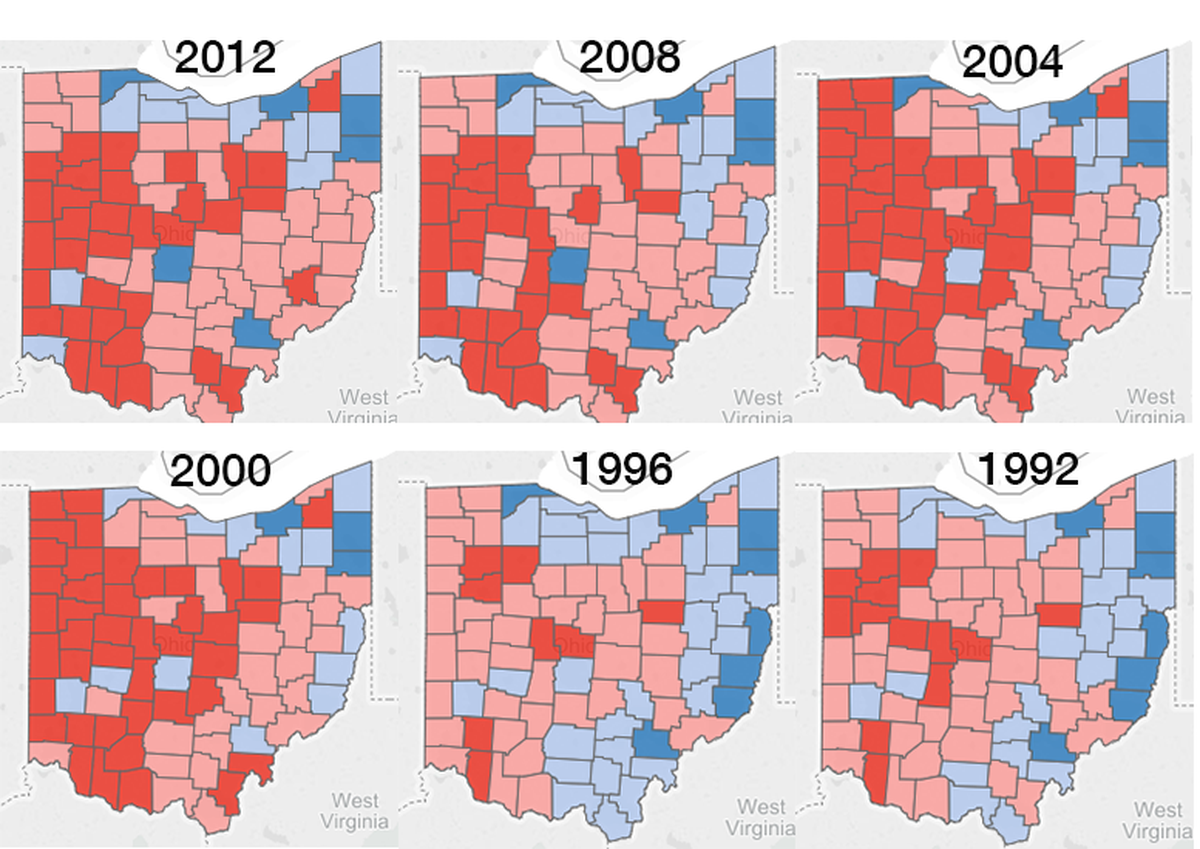 Ohio presidential election results.