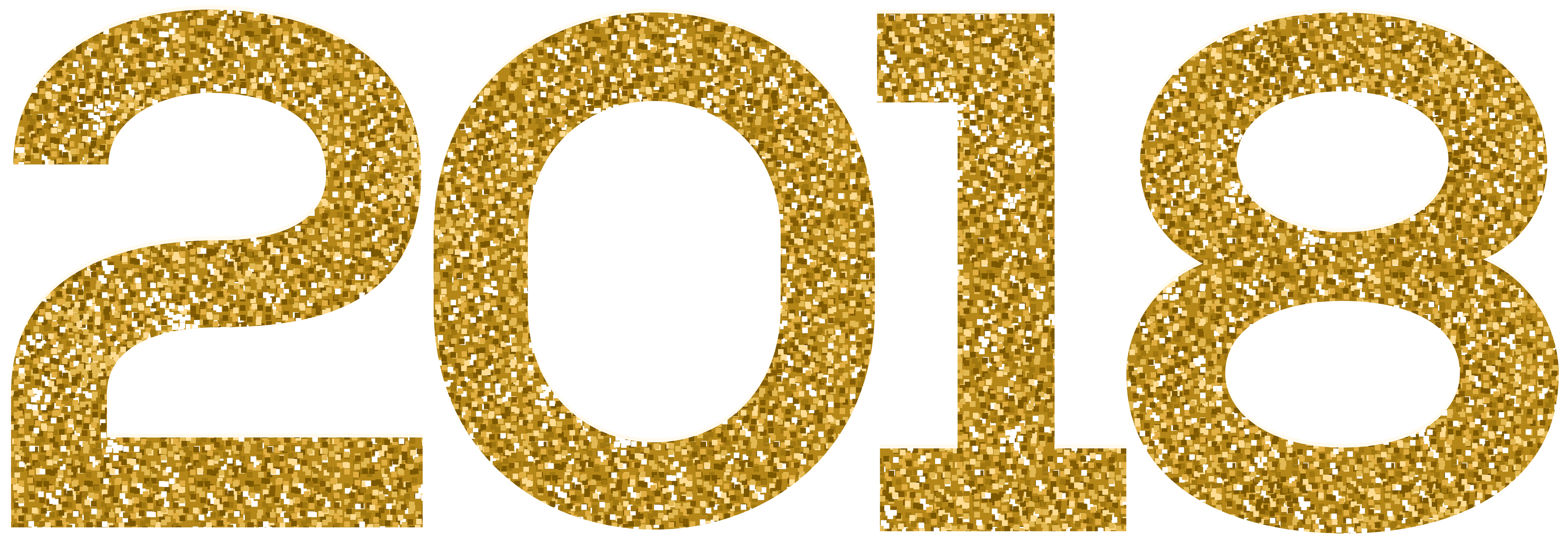 2018 Gold Clip Art PNG Image.