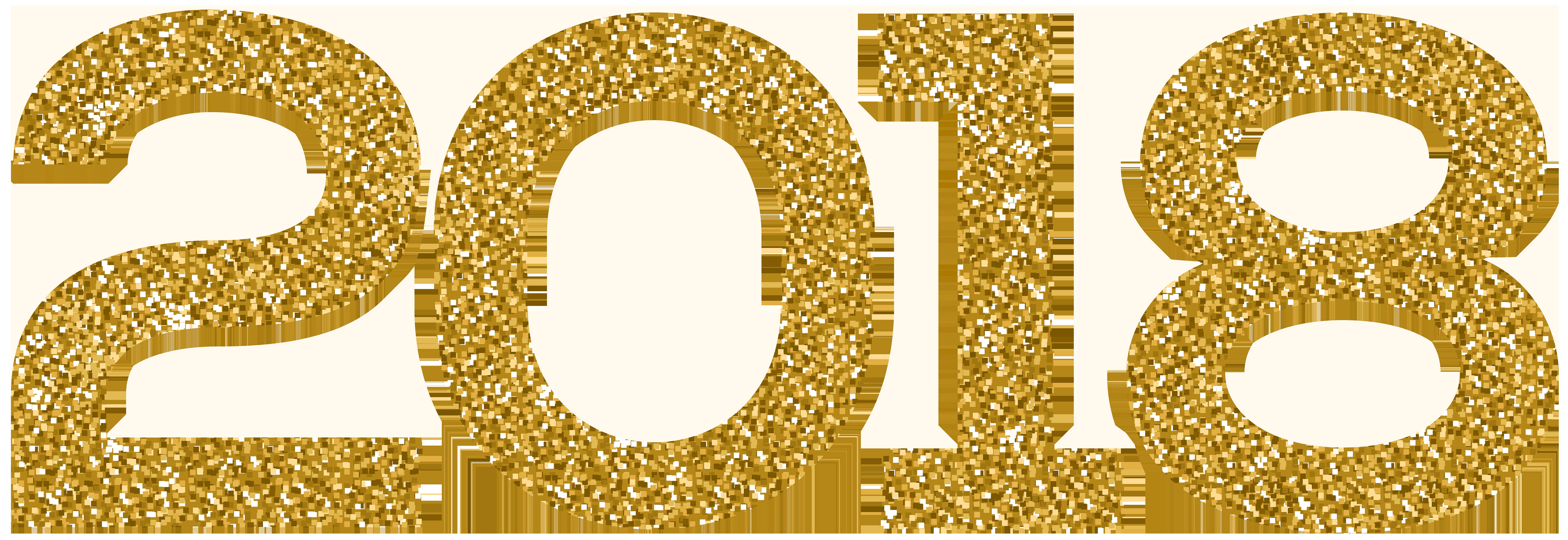 2018 Gold Clip Art PNG Image.