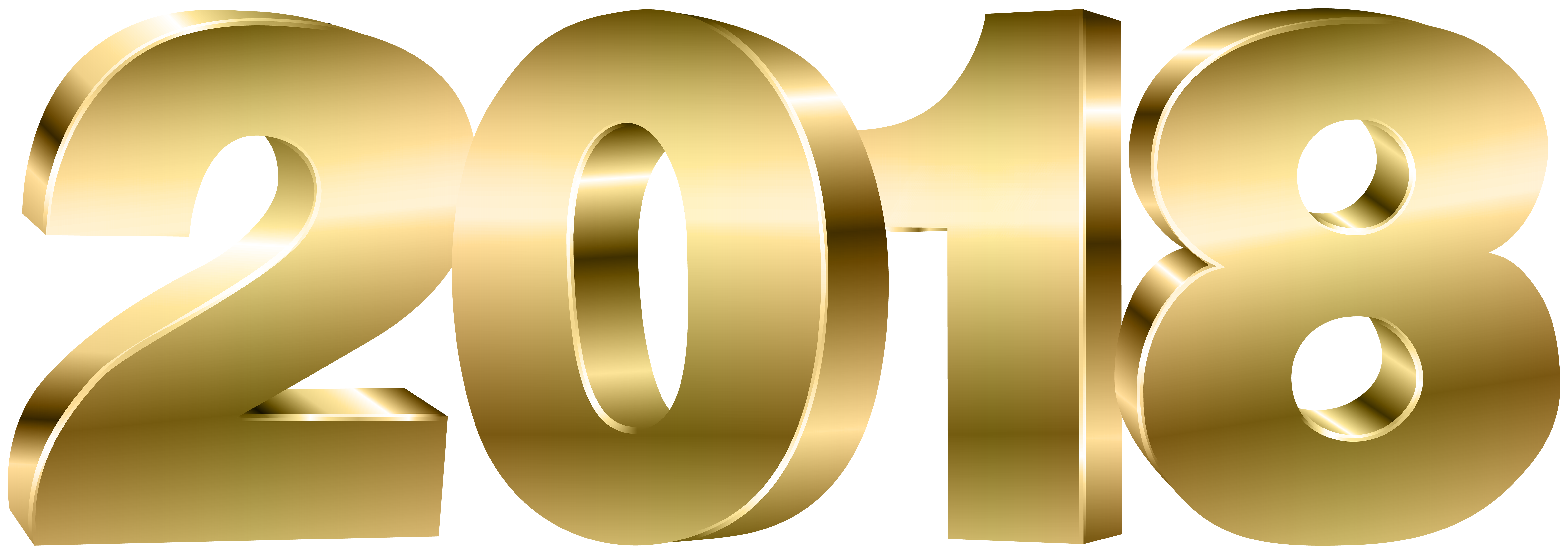 2018 Gold PNG Clipart Image.