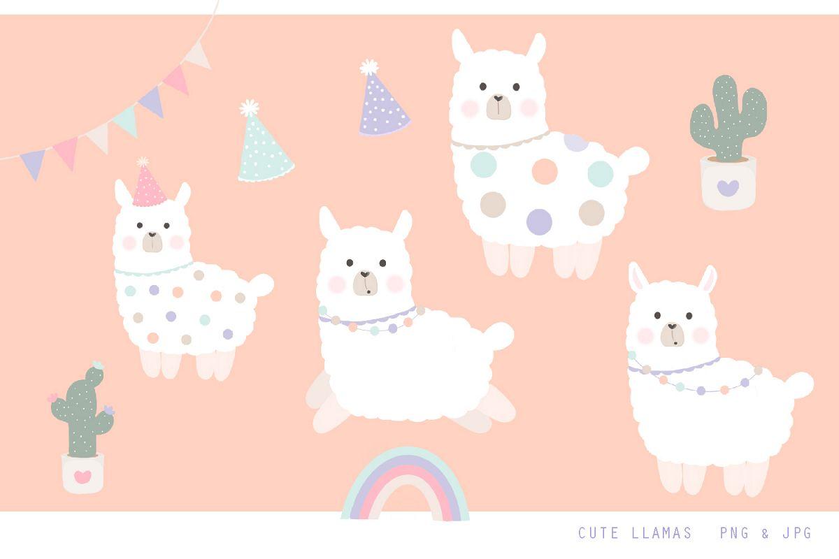 Cute Llama Clipart.