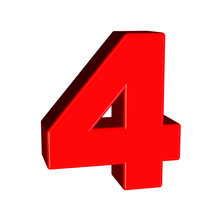 Number 4 Transparent PNG Image Icon #9.