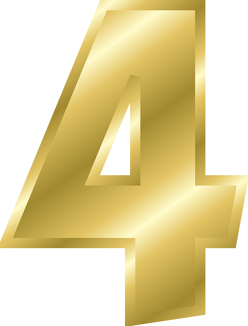 Number 4 free PNG images download.