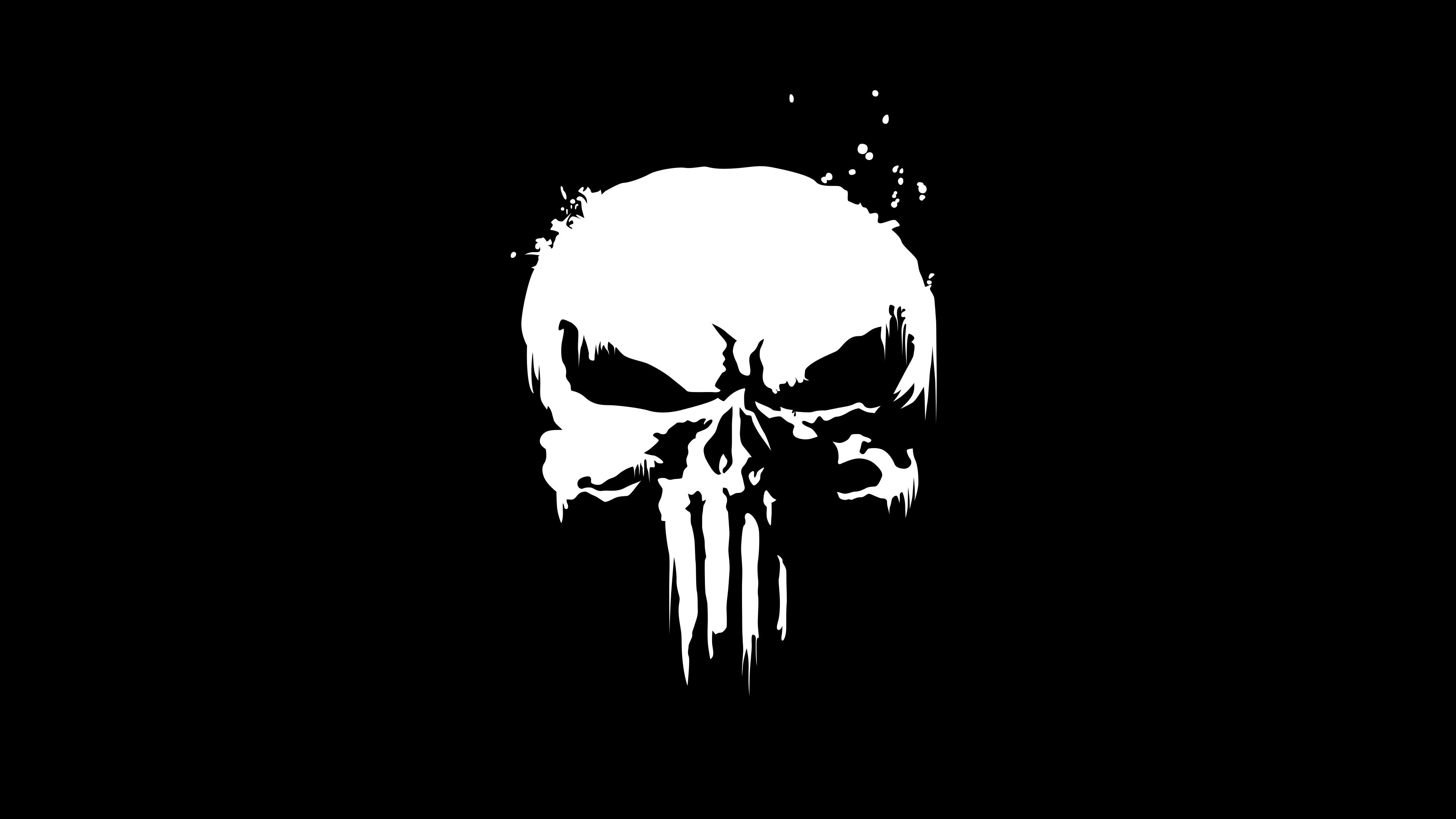 5100237 #4K, #Dark background, #Logo, #Punisher, #Skull.
