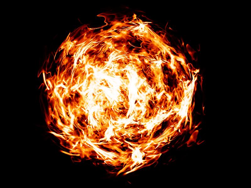 Fireball PNG Transparent Background (Fire.