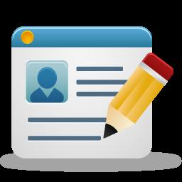 Create account, create profile, edit account, edit profile.