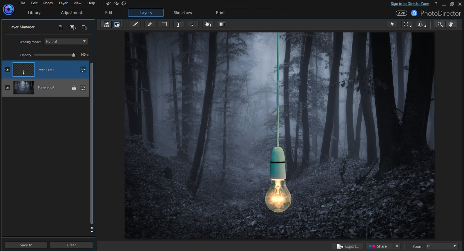 Introduction to Layers in PhotoDirector 7.