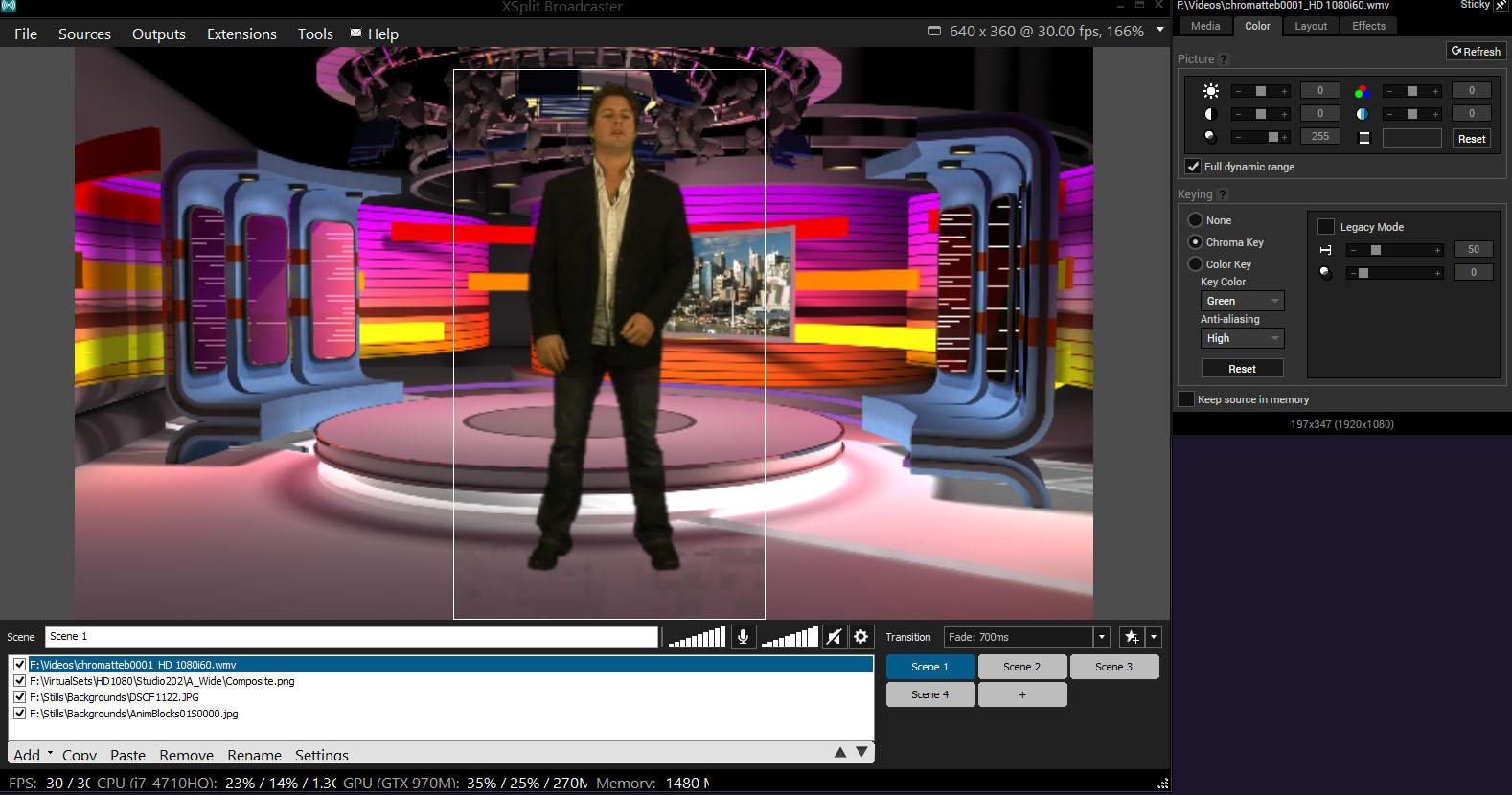 XSplit Broadcaster Virtual Set Background.