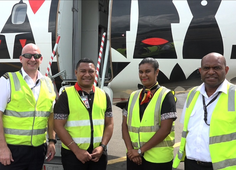 Vanimo Welcomes PNG Air ATR.