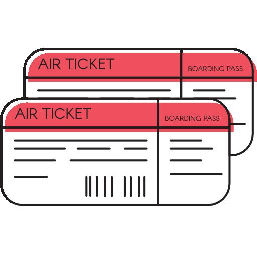 Plane tickets.