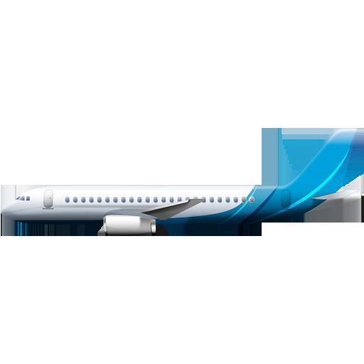 Blue Plane PNG Image.