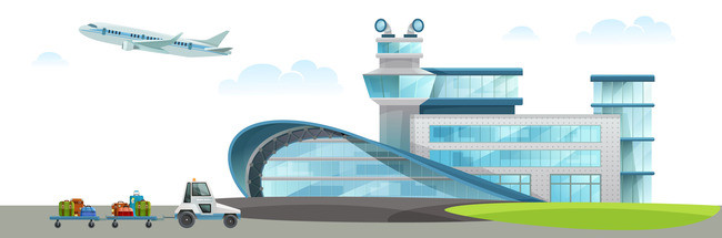 Download Free png Airport Cartoon Poster Background Vector.