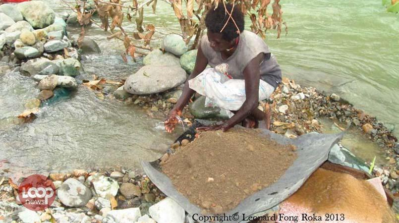 Alluvial mining reaches peak in Bougainville.