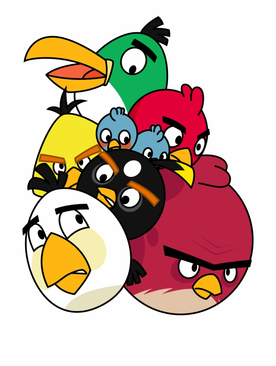 Pile Of Angry Birds By Gav Imp.