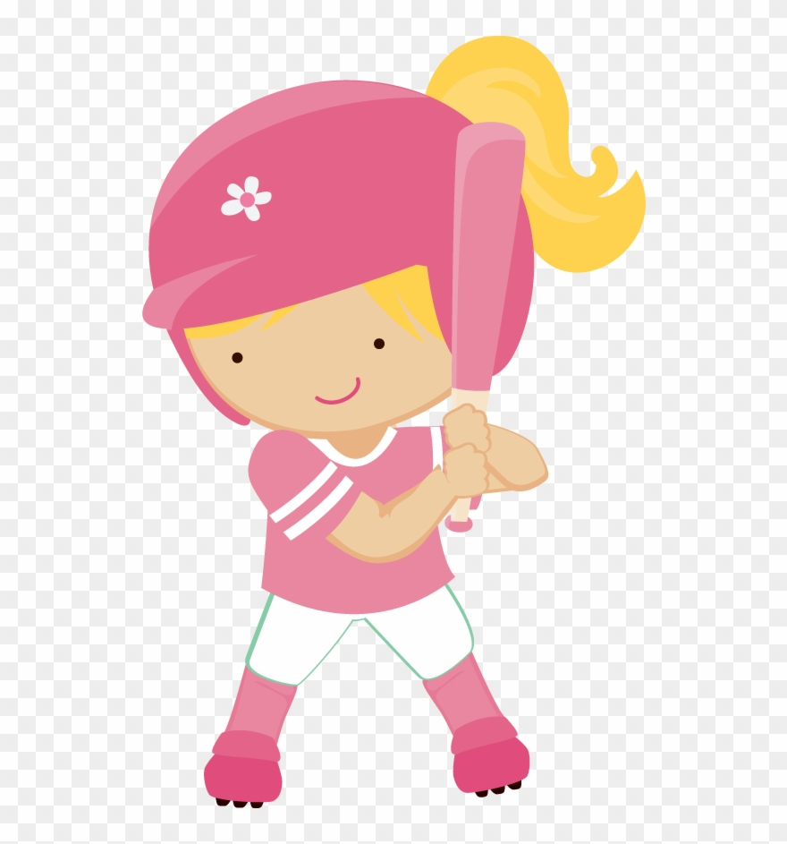 Girls Clipart Baseball.