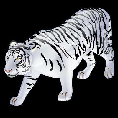Animal, tiger, white icon.