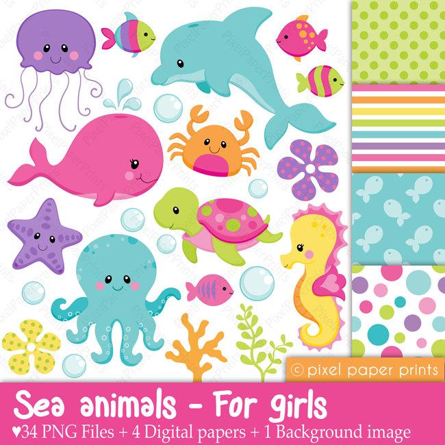 Sea animals for girls.