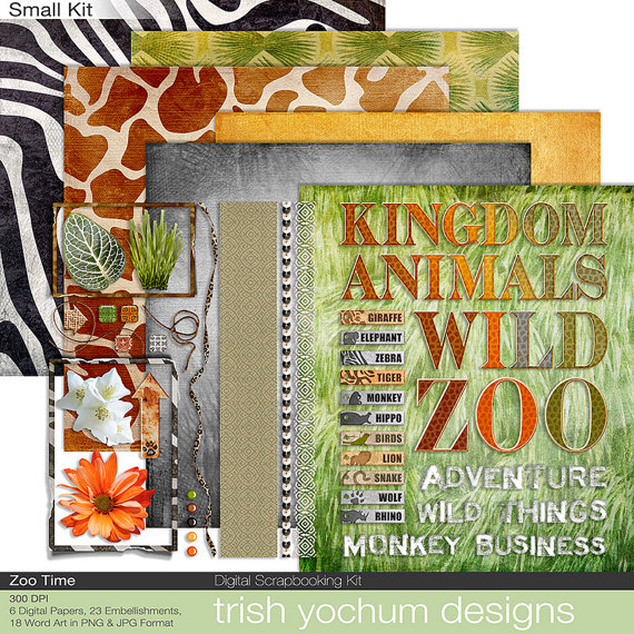 Zoo Digital Scrapbook.