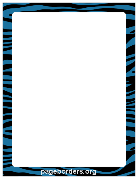 Printable blue and black zebra print border. Use the border in.