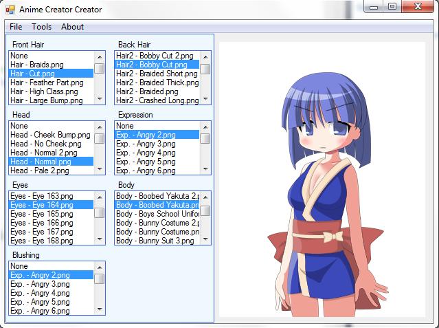 New Anime Character Creator.