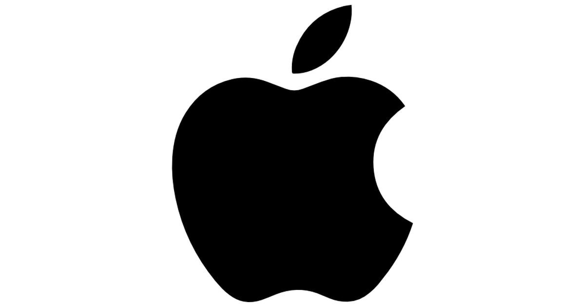 Apple logo.