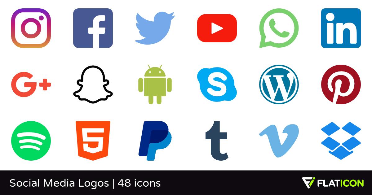 Social Media Logos 48 free icons (SVG, EPS, PSD, PNG files).