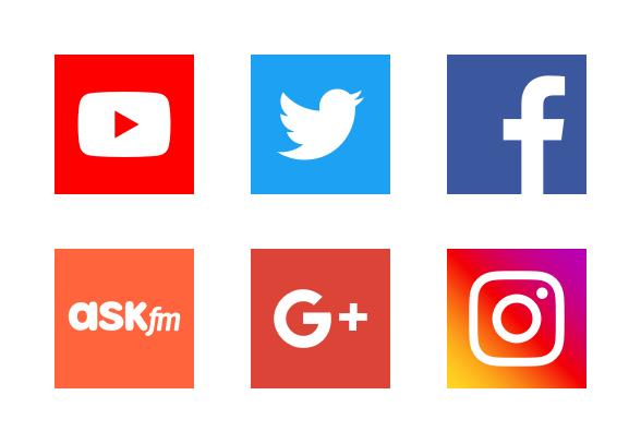 2018 Social media app logos icons by Anton D.