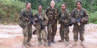 New Zealand trains first female PNG army officers.