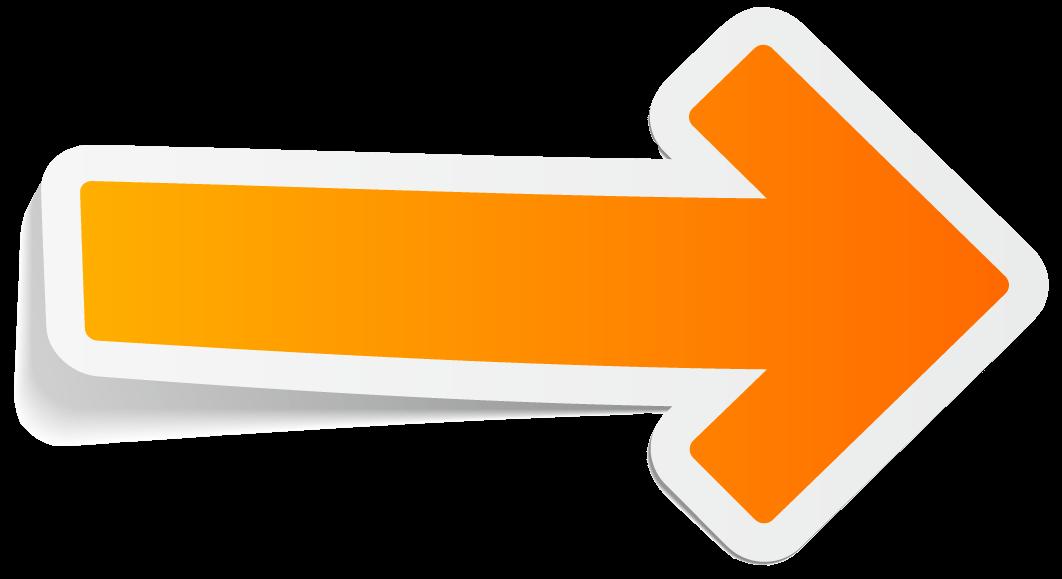 Arrow Orange Right transparent PNG.
