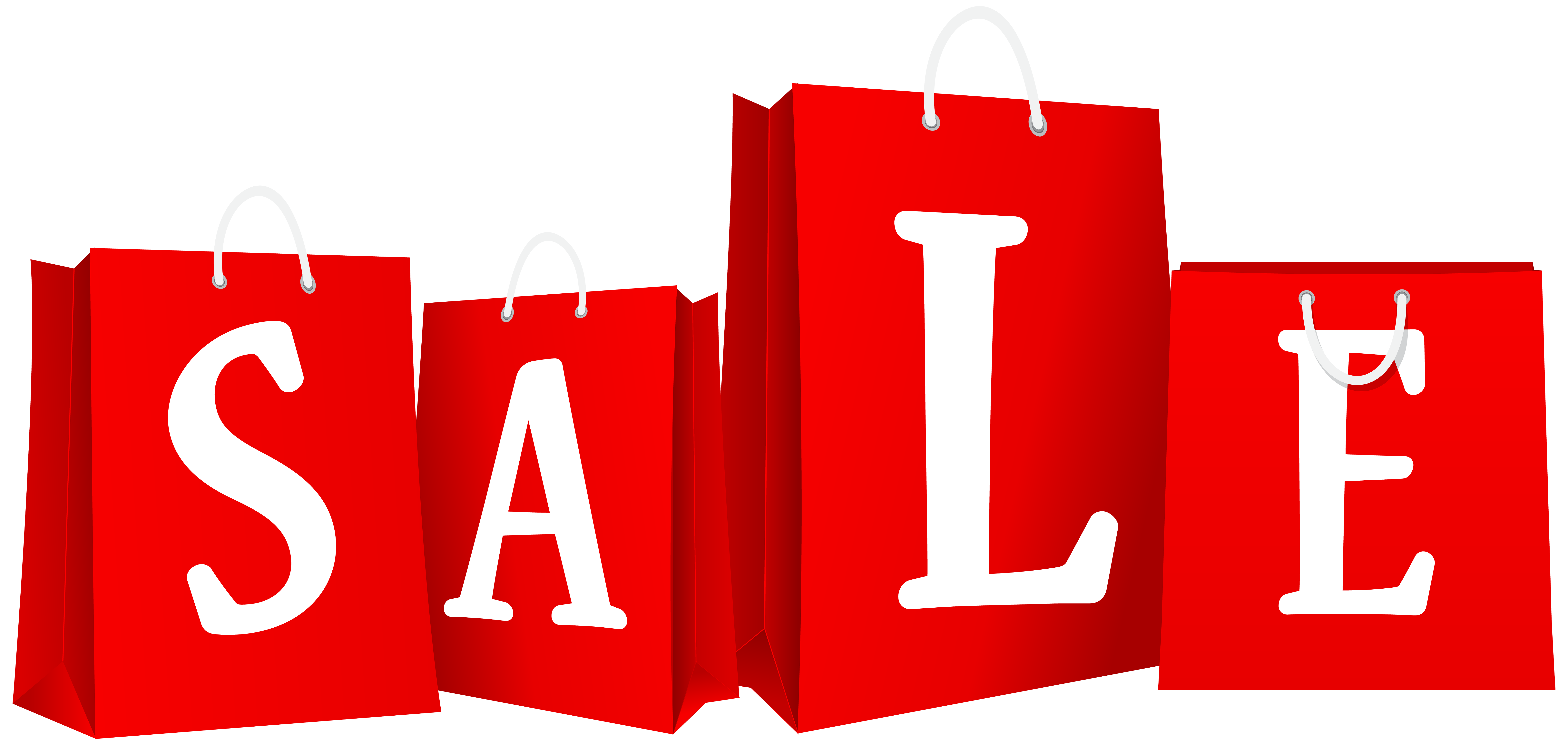 Sale Bags Red PNG Clip Art Image.