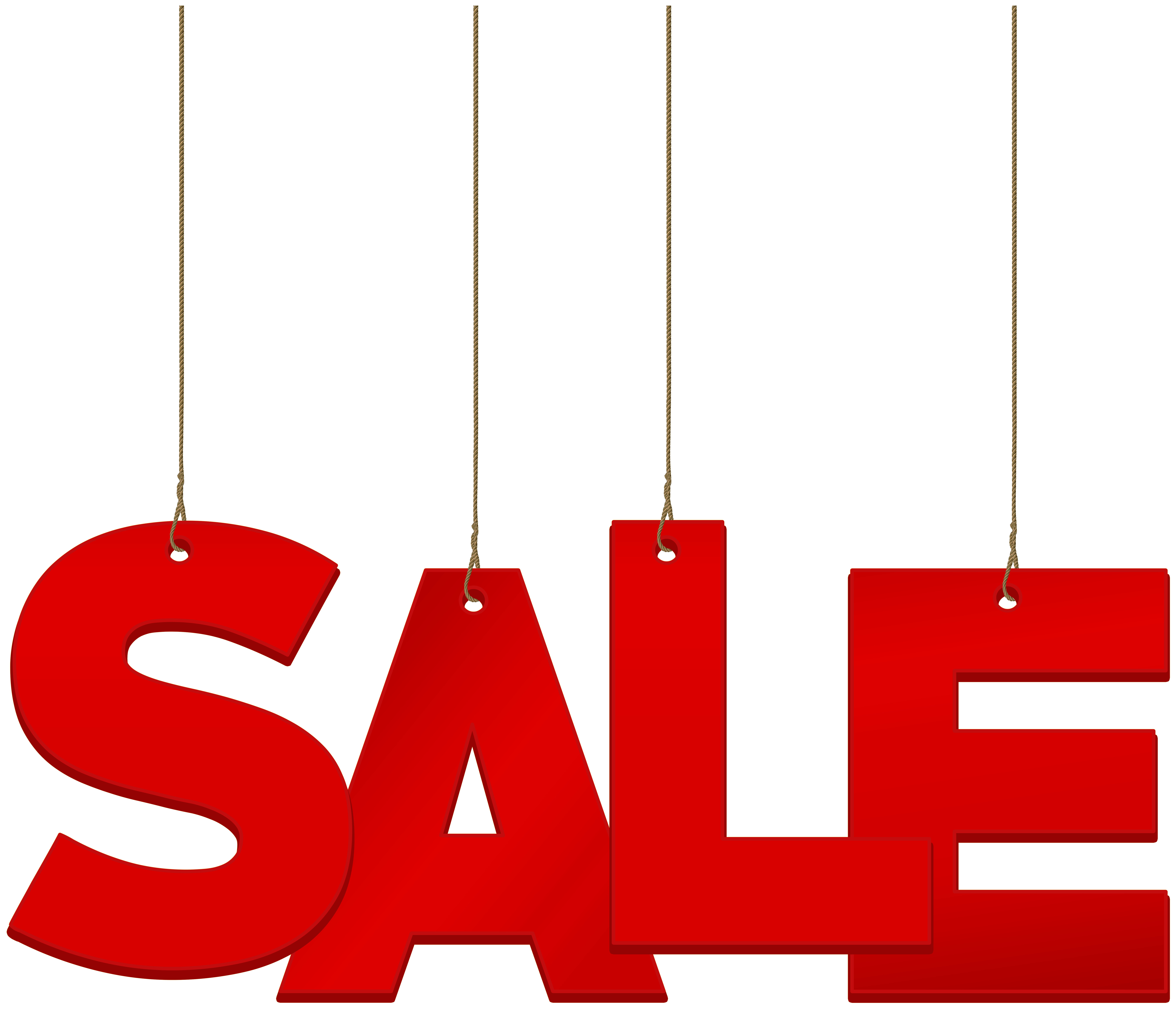 Hanging Sale PNG Clip Art Image.