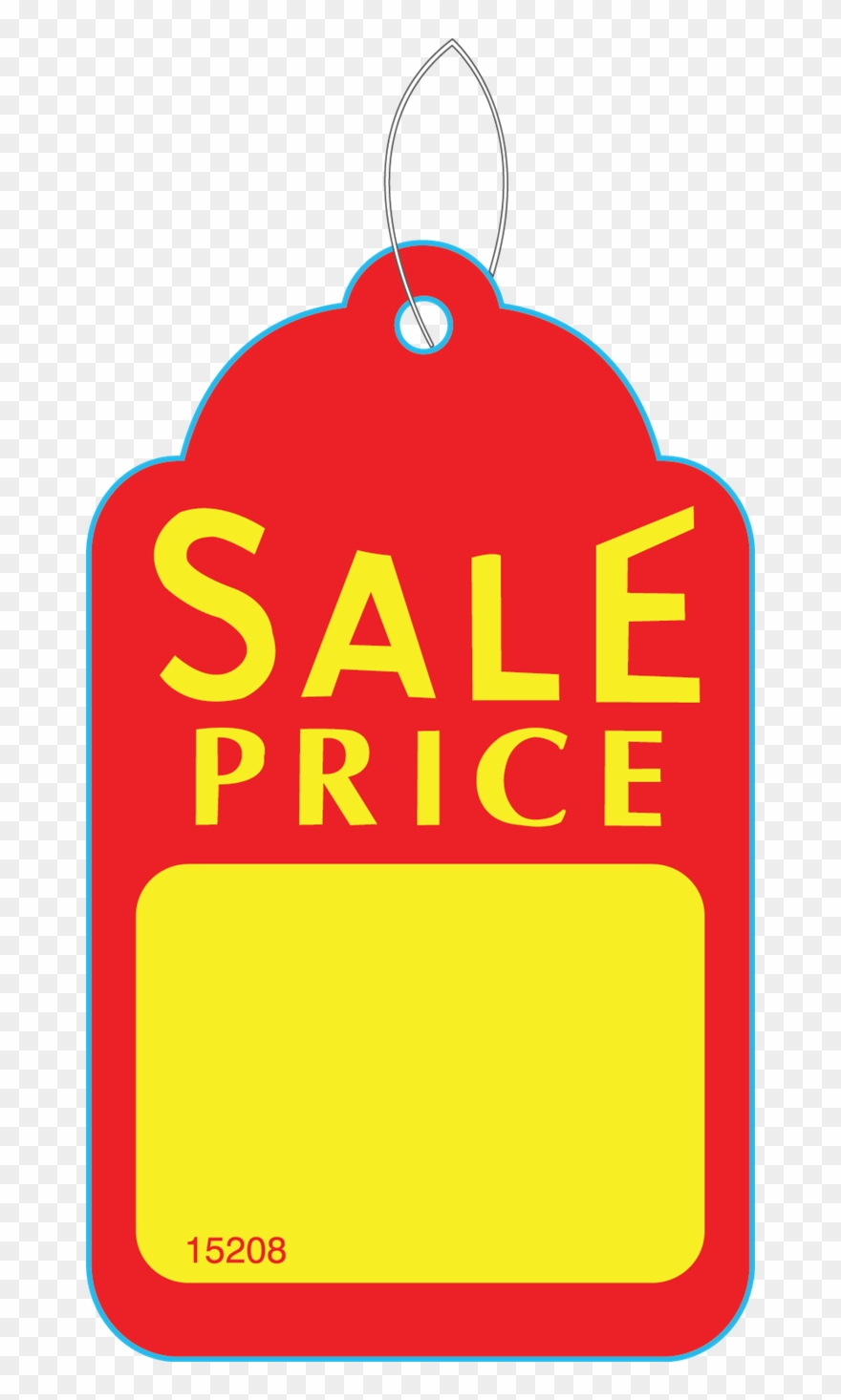 Clip Art Black And White Stock Sale Price Hang Tag.