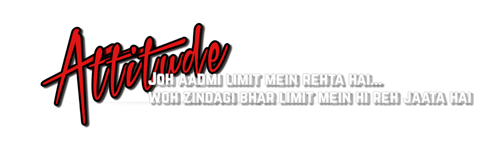 ○ Attitude Text Hd Png.