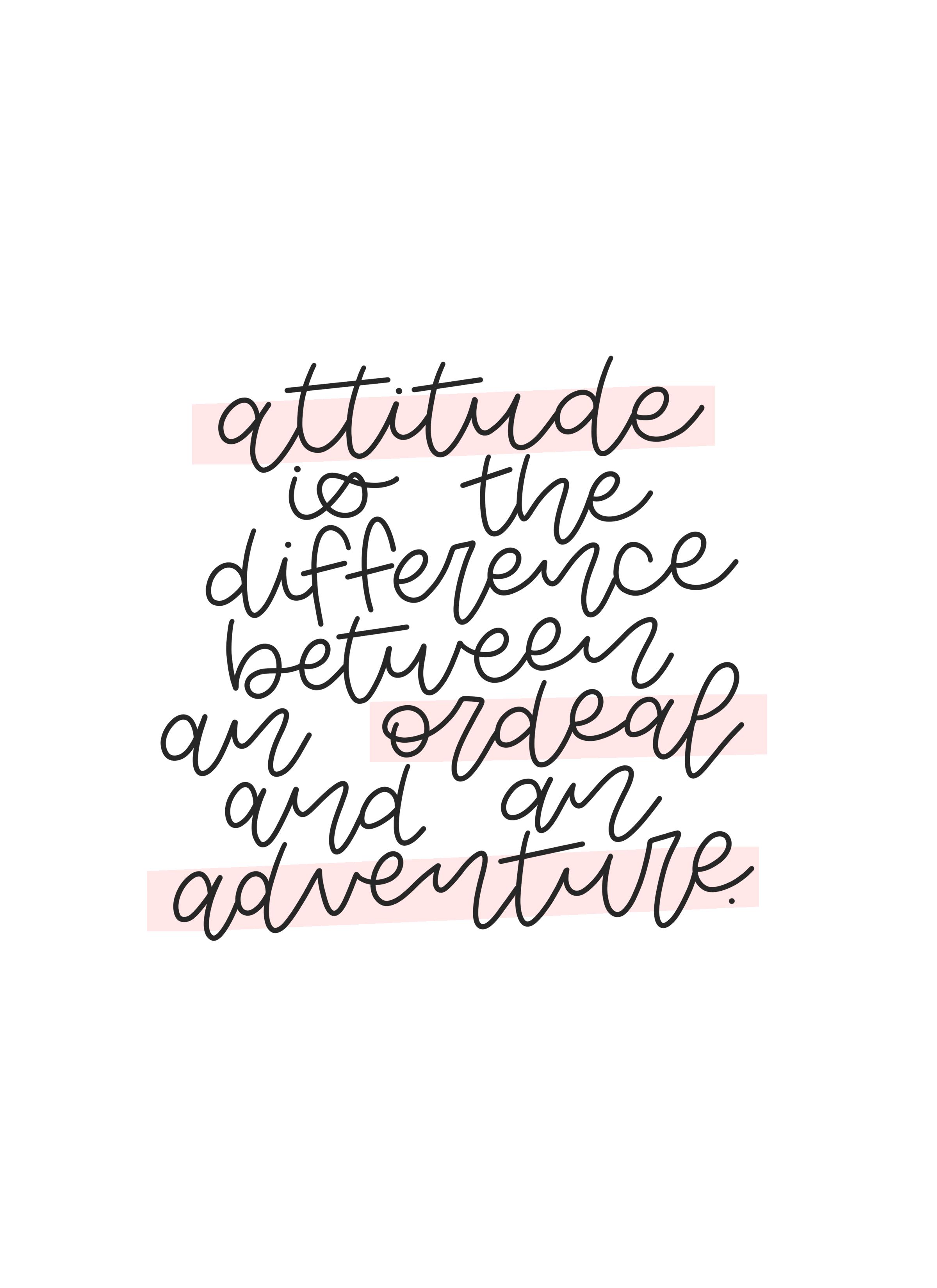 Attitude Printable.