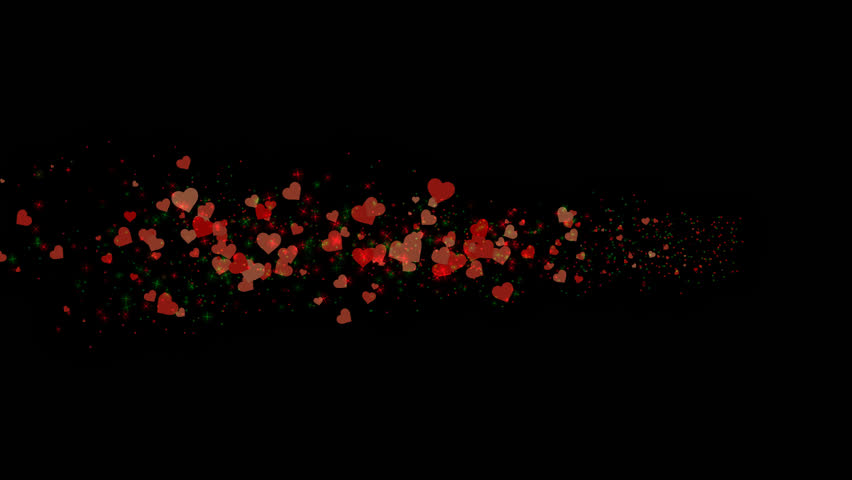 Png Alpha Red Hearts. Animated Stock Footage Video (100.