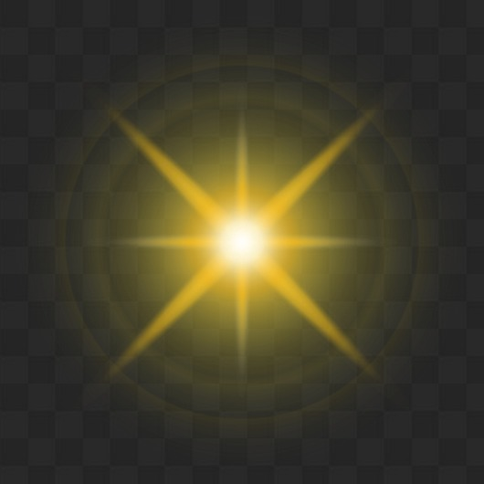 50 PNG, Light effects and flare on transparent background.