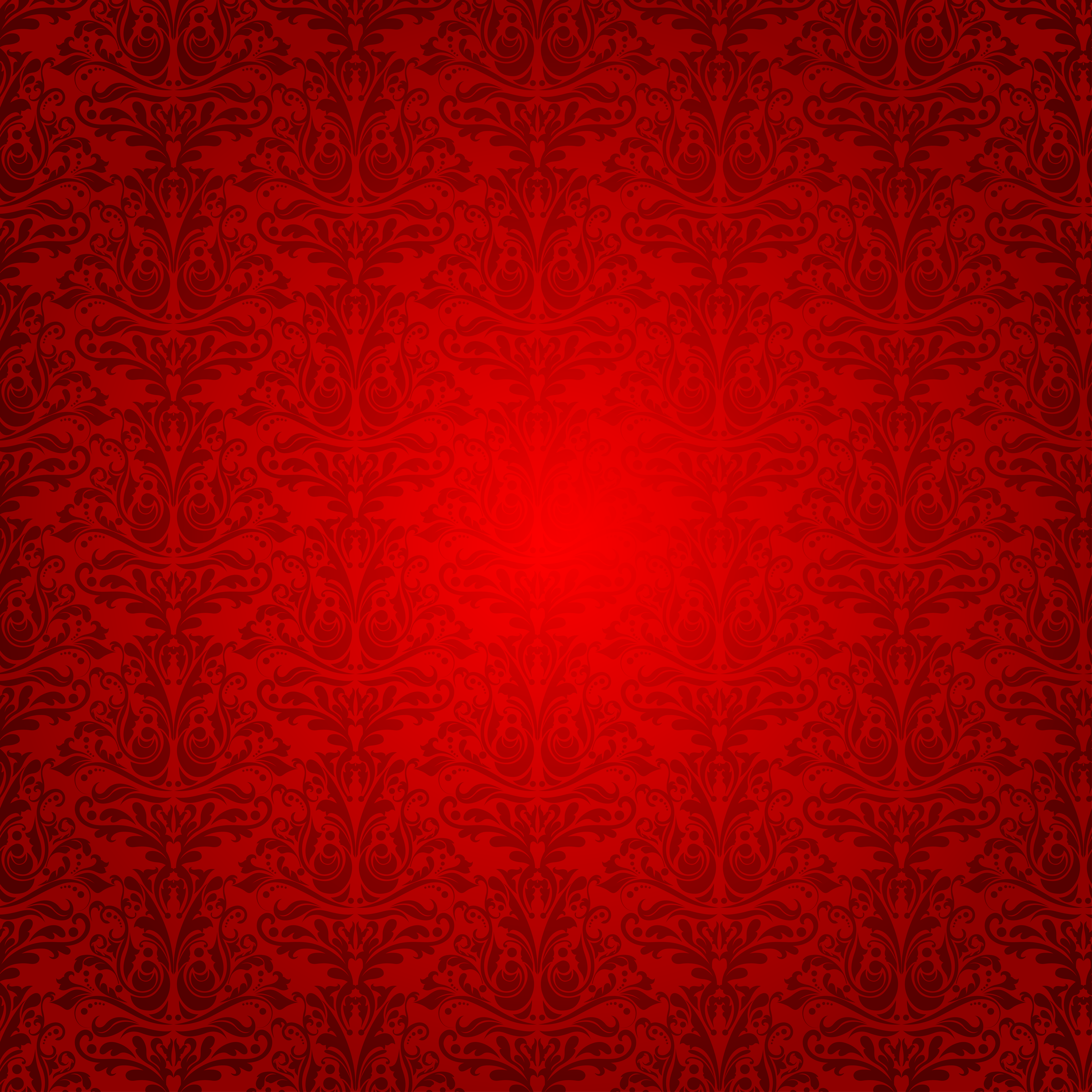 Red Background with Ornaments.