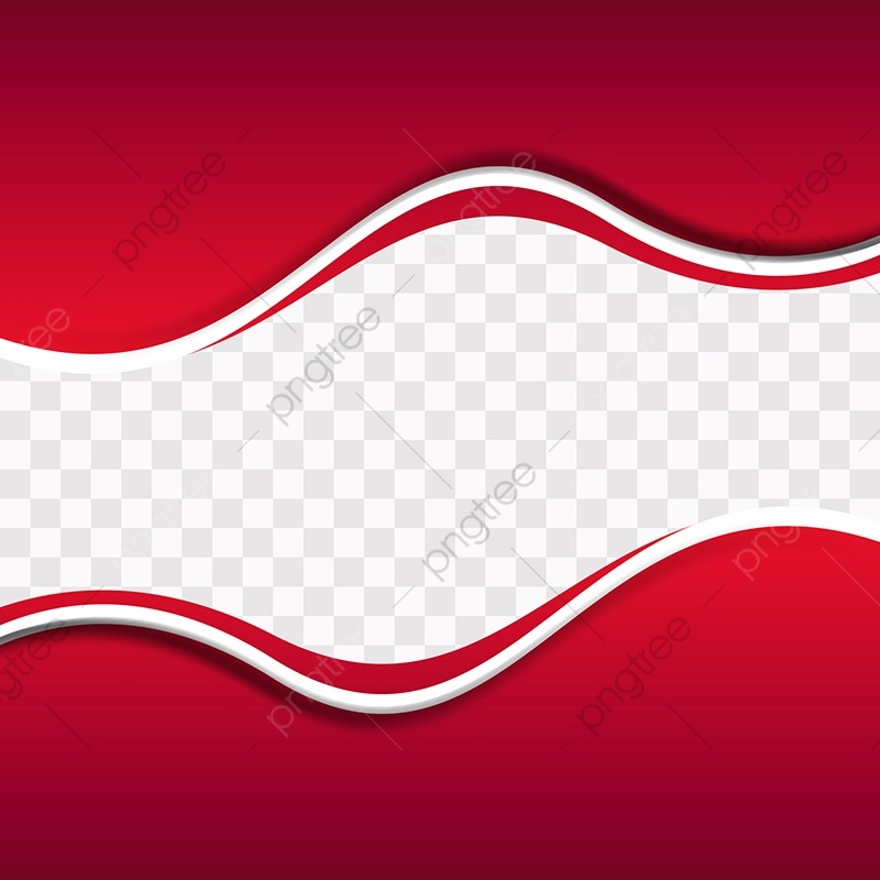 Red Wavy Shapes On Transparent Background, Red, Background.
