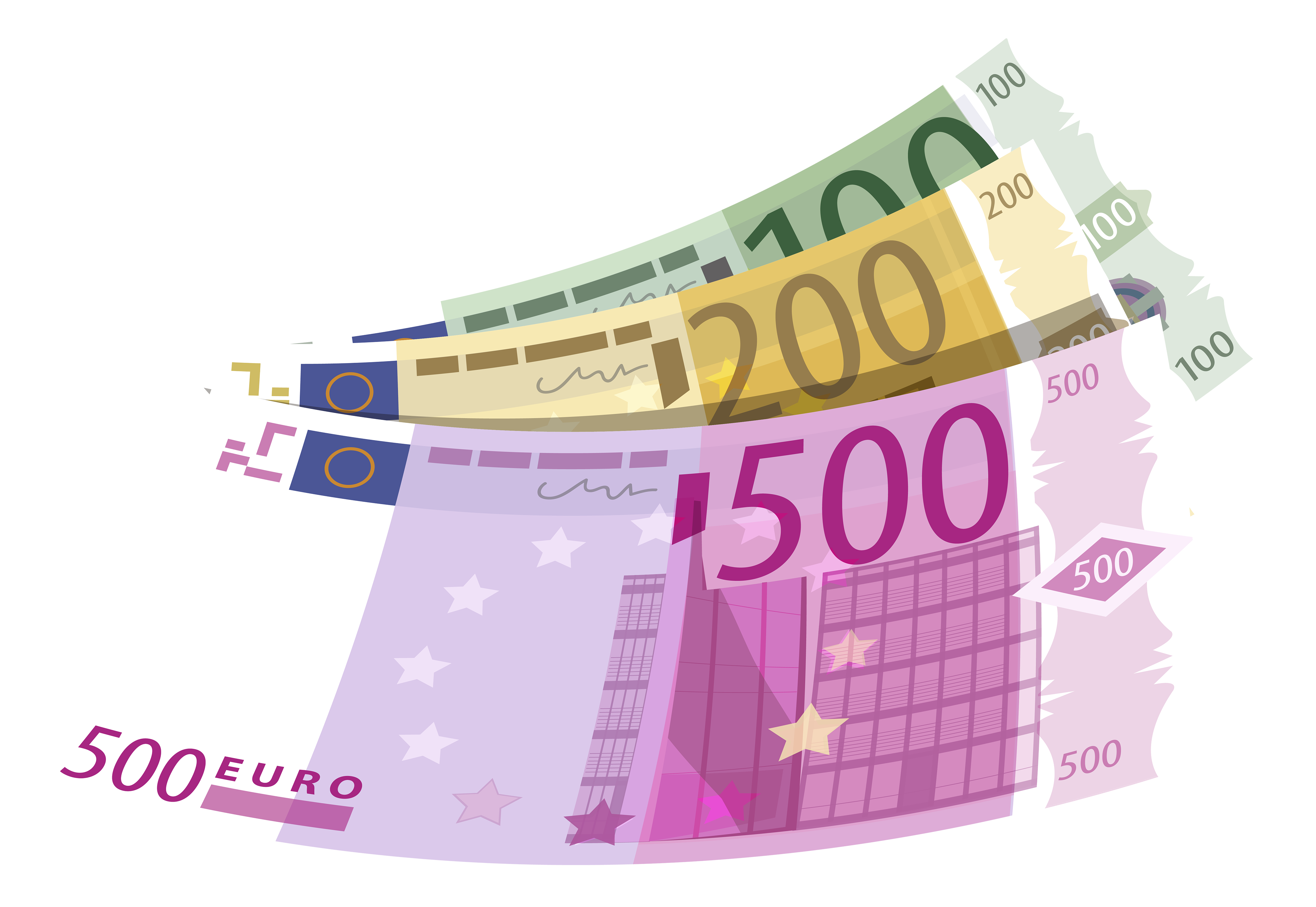Banknotes Euro PNG Clipart.