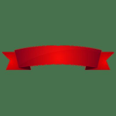 Red Banner transparent PNG.