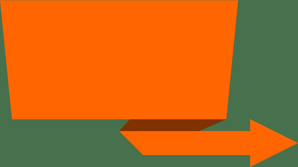Orange Banner transparent PNG.