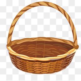 Wooden Basket PNG Images.